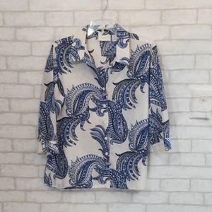 Chicos button down blouse size 1